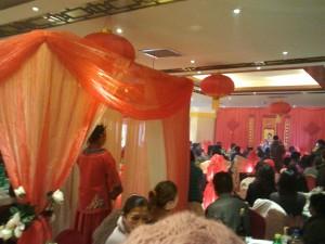 Pavillon de la mariée dans la salle du banquet
