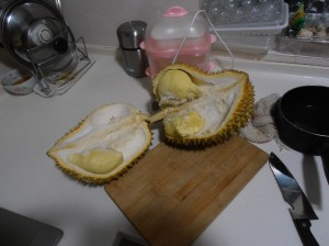 Durian ouvert