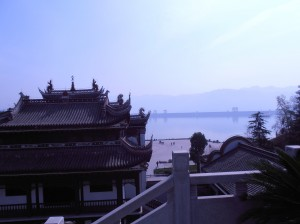 Le barrage vu depuis le mémorial de QU Yuan