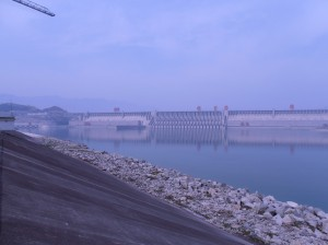 Le barrage vu d'en bas