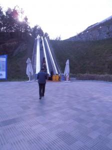 Les escalators qui mènent au sommet